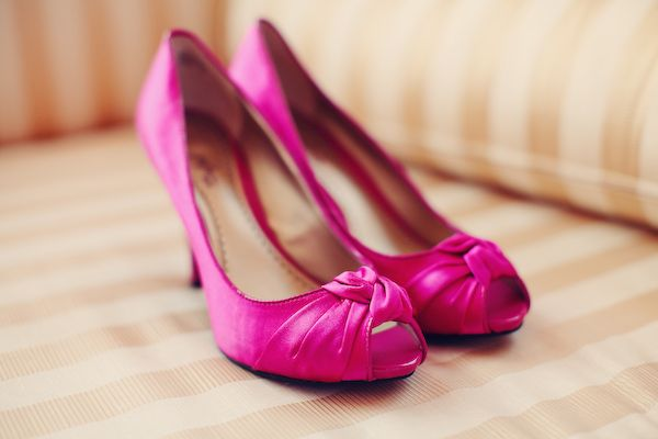 Beautiful bridal shoes, pink
