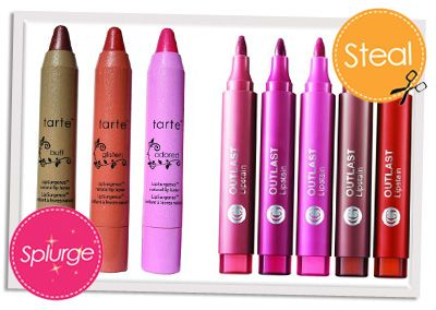 Save/Splurge...Lip Stains..Tarte vs. CoverGirl??.. NYC Cometics & Elf have them too.. ;)