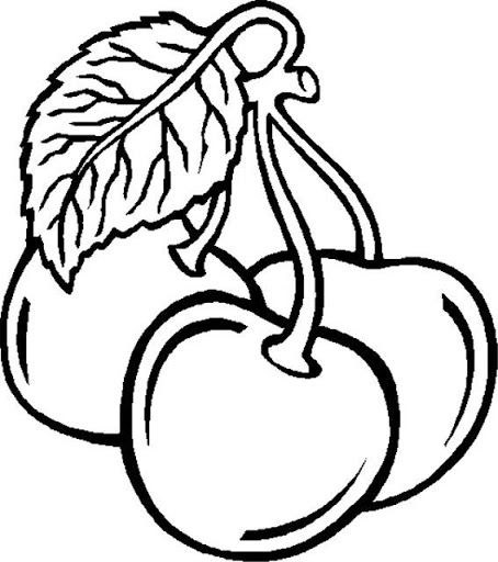 cherry fruits coloring pages for girl cherry fruits coloring pages for girl