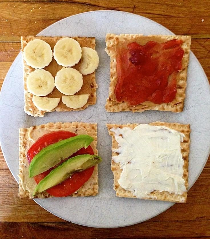 ... tomato, avocado 3. Peanut butter & jam 4. Cream Cheese #healthy #quick