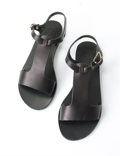Ancient Greek Sandals Adonia- Black | Creatures of Comfort