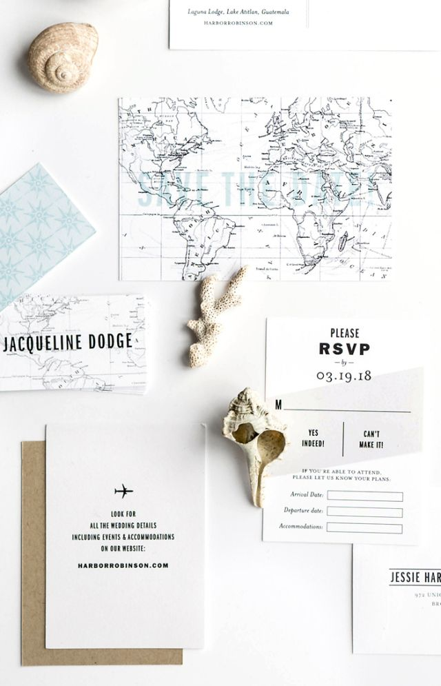 Featured Wedding Invitation Design: Gazette by Hello Tenfold