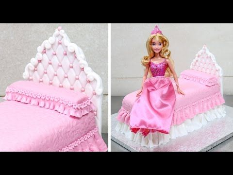 How To Make A Princess Doll Bed Cake