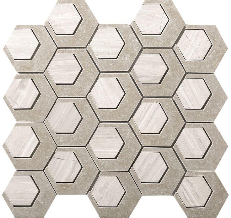 CATALYST™ - Cast Stone Mosaic Tile by Emser Tile