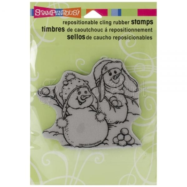 cling gumové razítko - Snowball Fight Cling Rubber Stamps Stampendous