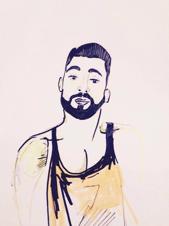Gypsy #ohboy #boy #male #men #beard #barber #hipster #drawing #handsome #boyfriend #gift #art #artwork #ownart #drawing #portrait #cool #mad