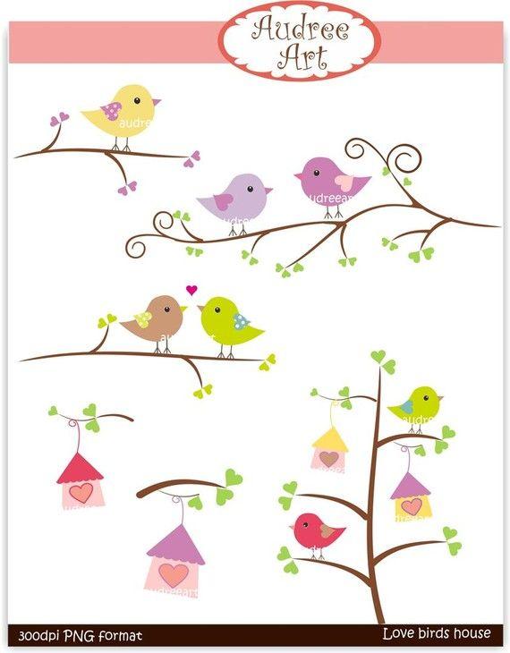 Clipart de San Valentín, pájaros del amor en la rama 2, descargar e imprimir PNG, JPEG archivo instantánea descargar imágenes prediseñadas