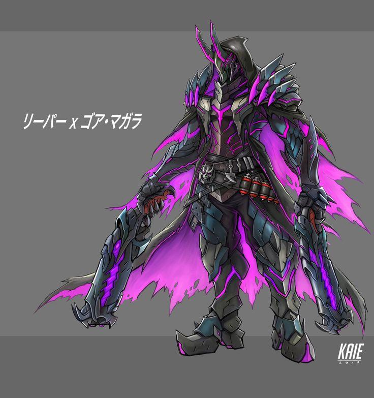 Kneel before me! - damnwyverngems: - Reaper x Gore magala // Kai...