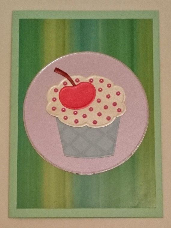 Handmade C6 Cupcake Greeting Card Any Occasion by BavsCrafts