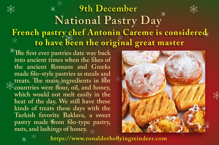 #today 9th Dec is #NationalPastryDay #WearyWillieDay Throughout the years, plenty of pastry types have emerged; choux, danish, phyllo (which is more commonly known as 'filo' pastry), and on the back of that, hundreds of delicious pastry-based treats! #Pastryday #pastry  #Pastries #foodlover #foodlike #pastrylove #pastrychef