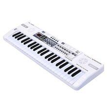 Crianças Brinquedos Musicais de Piano 44 Teclas Branco Teclado Instrumento Educativo Para Crianças Música Multifuncional Brinquedo Eletrônico Com LED(China (Mainland))
