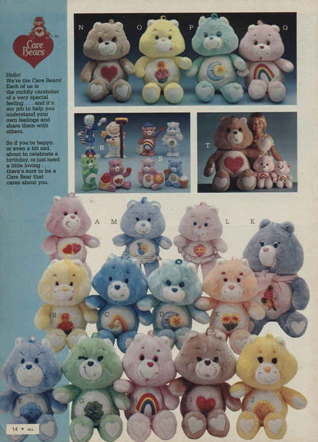 Care Bears | 32 Essential Toys Every '80s Preschooler Had