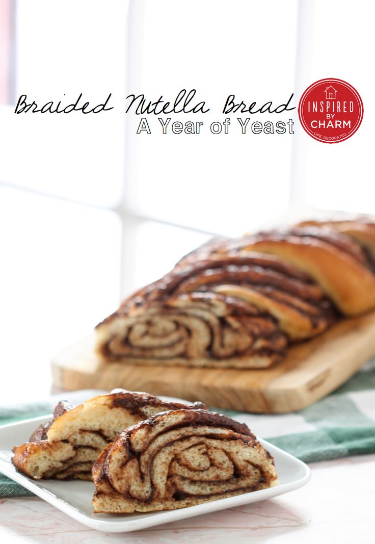 Braided Nutella Bread | Inspired by Charm - is a hit with hubby, tho i find the bread part a bit dry. dough was very sticky and hard to roll . .