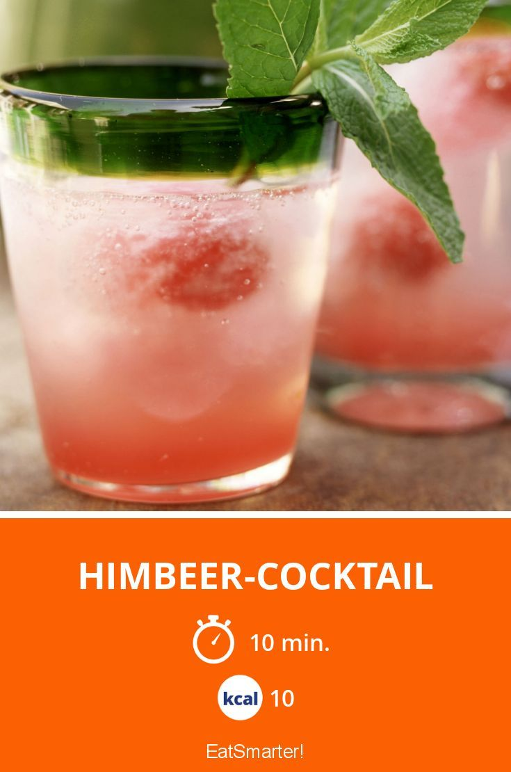 Himbeer-Cocktail - smarter - Kalorien: 10 Kcal - Zeit: 10 Min. | eatsmarter.de