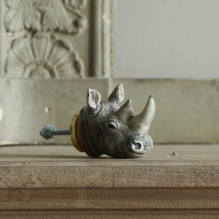 Rhino Head Knob - Door Knobs, Handles & Hooks - Treat Your Home - Home Accessories