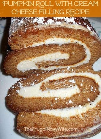 Pumpkin Roll With Cream Cheese Filling Recipe