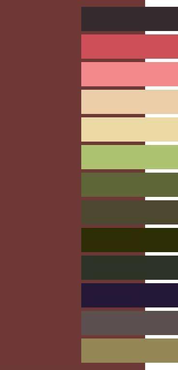 Marsala color palette for Dark Autumm