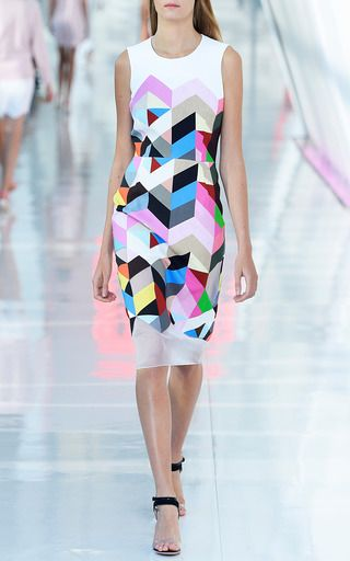 Printed Crepe Issy Dress by Preen by Thornton Bregazzi | Moda Operandi