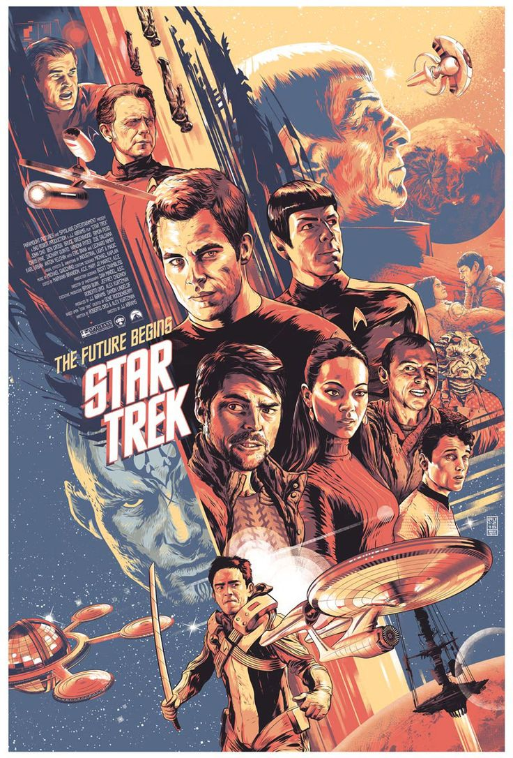 Retro Star Trek 2009 Poster | Sci-Fi Design