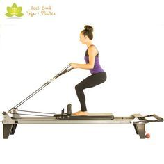 the standing russian pilates reformer exercise