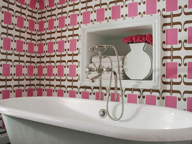 bright pink, graphic wallpaper
