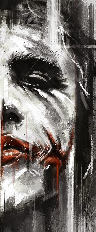 Batman 75th Anniversary Tribute Heath Ledger as Joker in 2008 - Art by Robert Bruno #joker  #batman  #robertbruno  - Art Hernandez - Google+