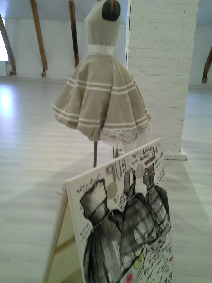 Scetch& audrey hepburn style wedding dress, made by me. Exhibition @Almin talo, Loviisa- 2014