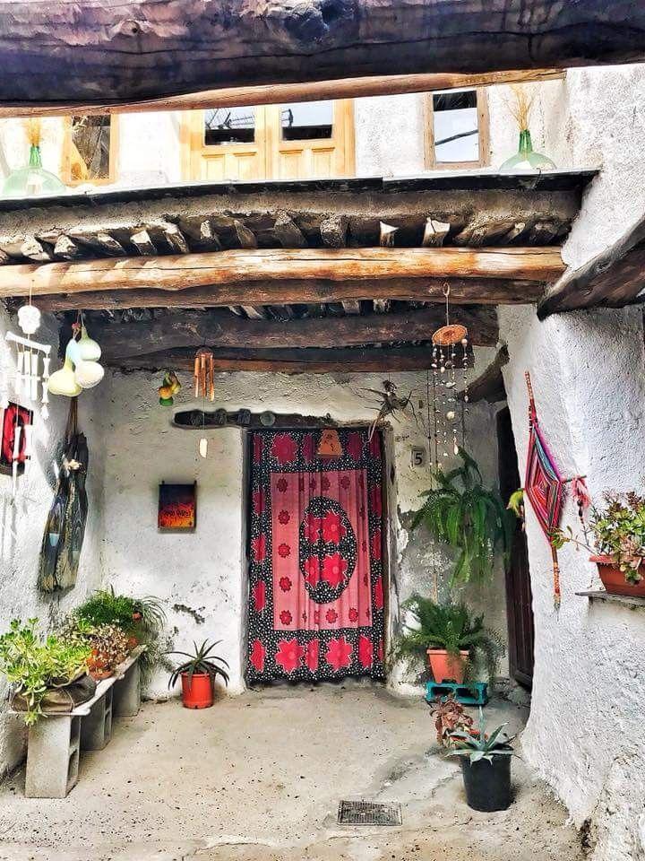 Fondales, casa tipica de la Alpujarra granadina