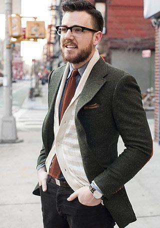 カーキツイードジャケットの着こなし(メンズ) | Italy Web