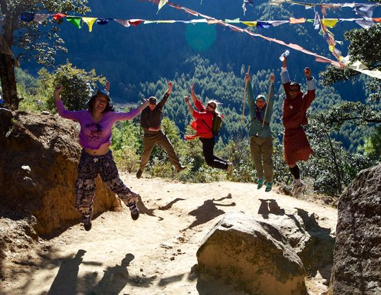 WALKING 8 Days Tours Bhutan is a country with a mountainous terrain it is dotted with a number of villages. Buddhist monks wish to be devoid of all worldly attachments and hence all the Buddhist temples are built in such a way that they are far away from human settlements.