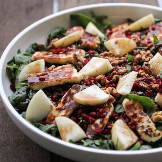 Haloumi, Quinoa & Pomegranate Salad - This salad is an explosion of interesting textures, flavours and simply bursting with goodness.
