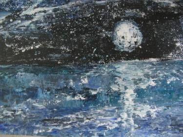 Midnight moon  over the sea