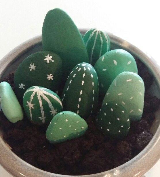 Stenen cactussen