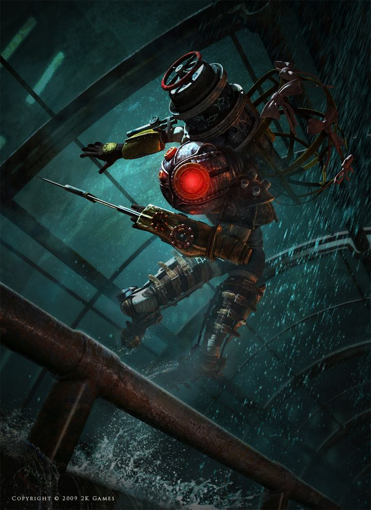 Big Sister, Bioshock 2 by Jason Chan. http://jasonchanart.blogspot.jp/2010/04/recent-video-game-work.html