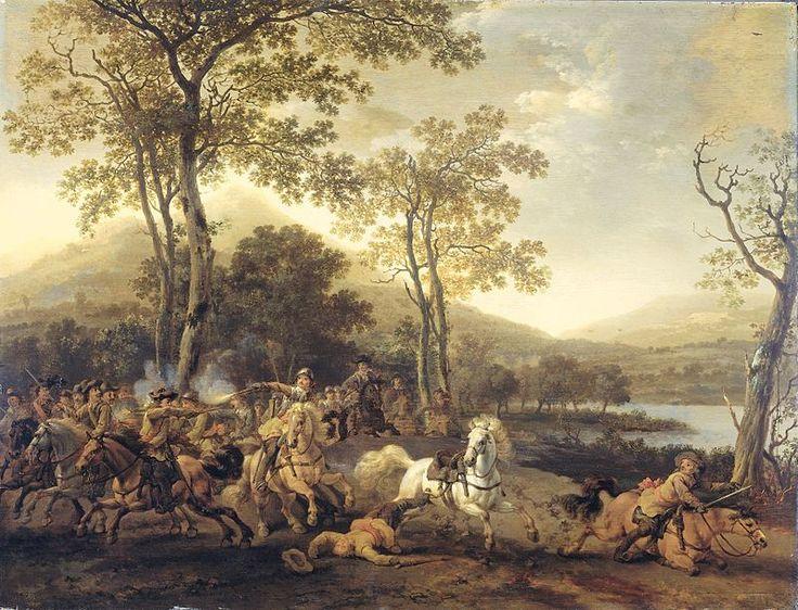 Abraham Calraet - Кавалерийский бой .1690. Государственный музей Амстердама