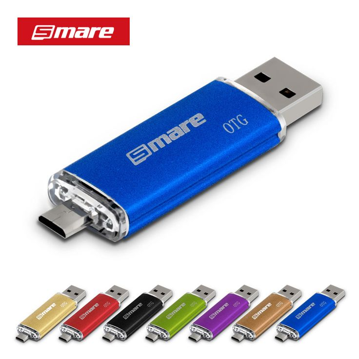 Smare smartphone otg pendrive usb flash drive 4 gb/8 gb/16gb32gb/64 gb pen drive usb 2.0 unidad flash para el teléfono inteligente