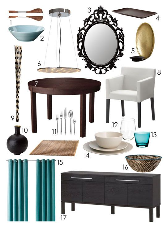"""Styling From Scratch Round Three: Dining Rooms IKEA"" @apartmenttherapy.com"