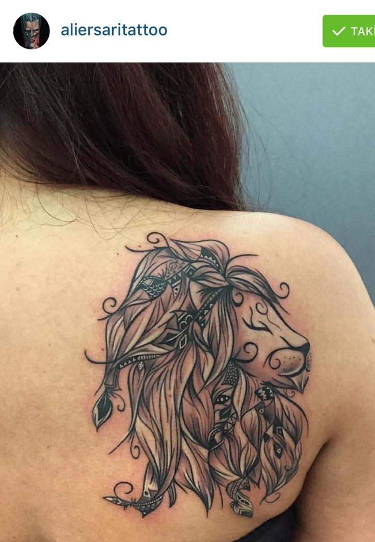 Loujah's poetic lion. Awesome tattoo !! Work done by aliersari.