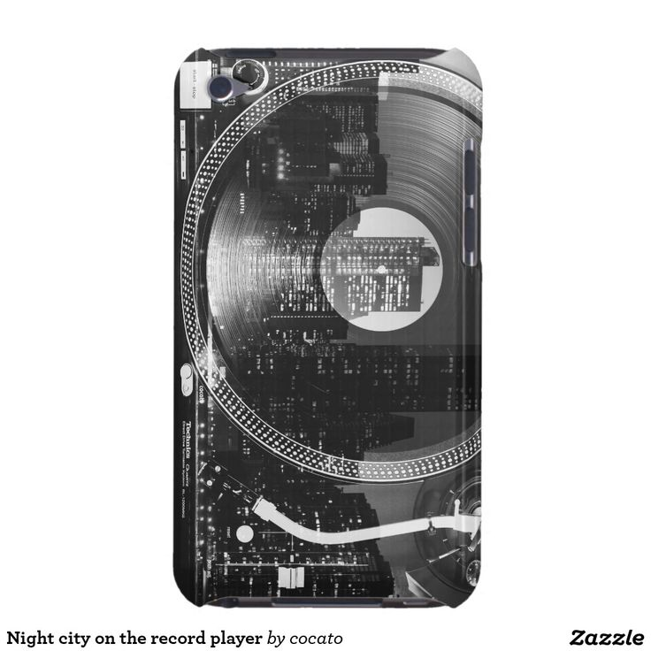 Night city on the record player Case-Mate iPod touch ケース
