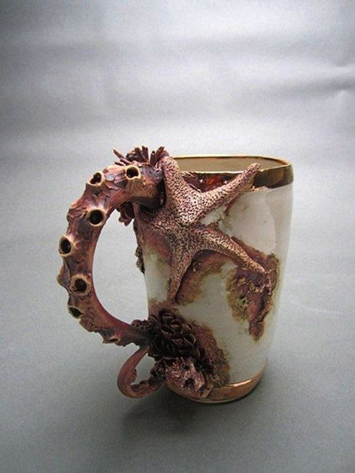 china, mug, and octopus image