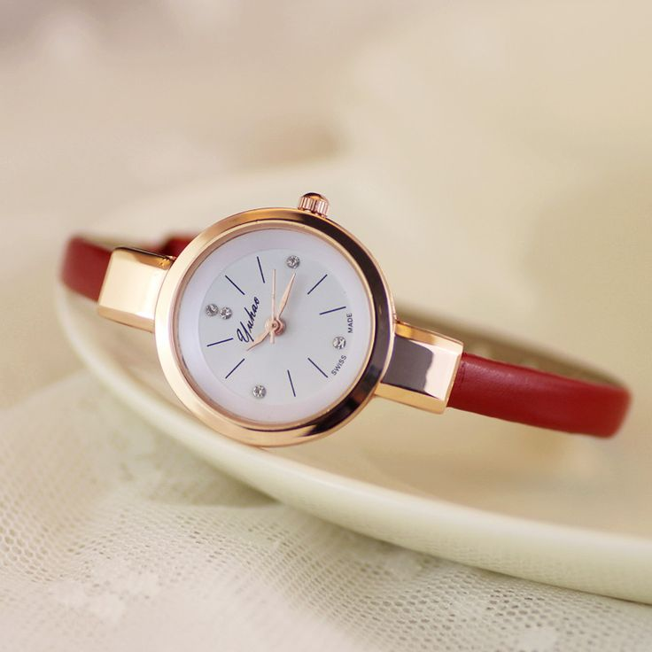 Luxury Yuhao Rose Gold Crystal Diamond Thin Leather Strap Quartz Wedding Watch Wristwatches for Women Ladies Girls #>=#>=#>=#>=#> Click on the pin to check out discount price, color, size, shipping, etc. Save and like it!