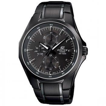 Casio Men's Edifice Black Stainless Steel Bracelet Watch