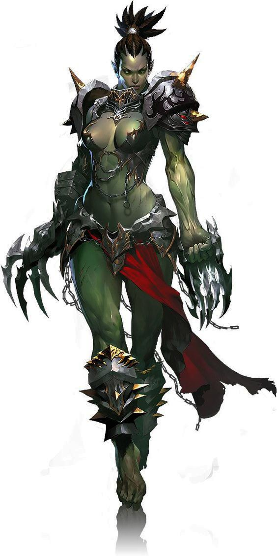 Female Orc - character-concept