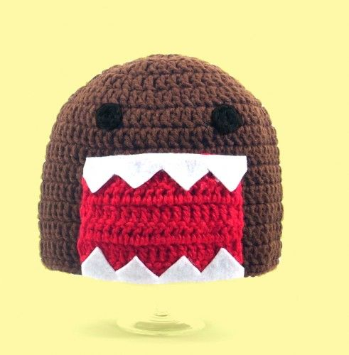 Brown Anime Monster Hat Handmade