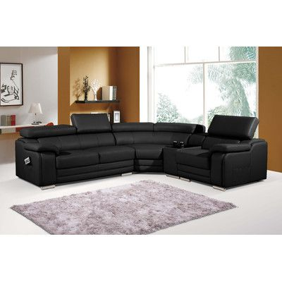 Sectional Sleeper Sofa Clearance Best Master pc Henderson collection black bonded leather sectional sofa with adjustable headrests and chrome legs Sectional measures x x D x