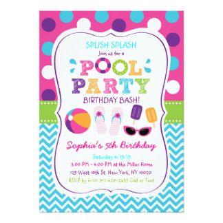 """Invitaciones del cumpleaños de la fiesta en la invitación 5"""" x 7"""""""