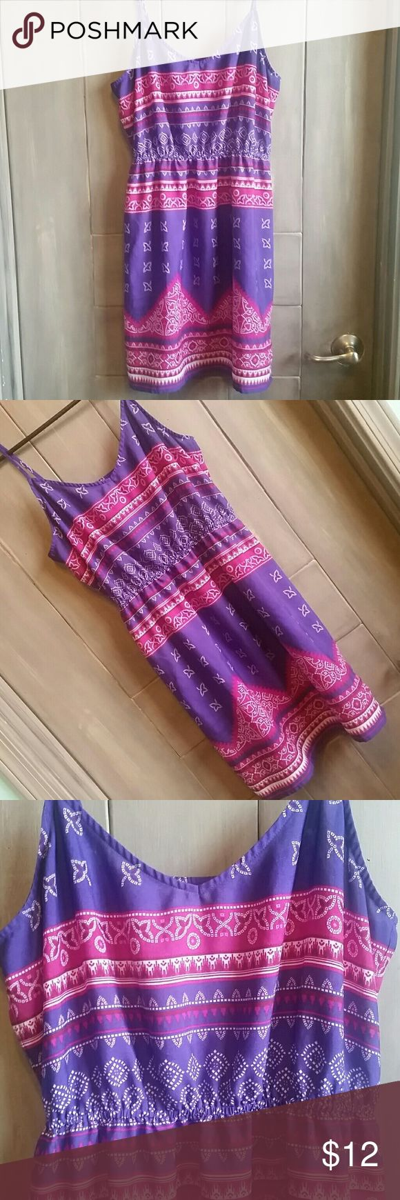 💘20% of 2 or more 💕 Purple and pink sundress with adjustable straps, like new condition!! Dresses