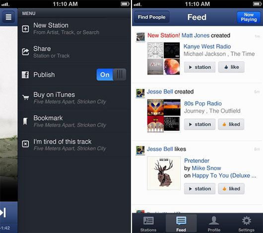 A Free Personalized Radio for New Gadgets - Pandora Radio iOS App