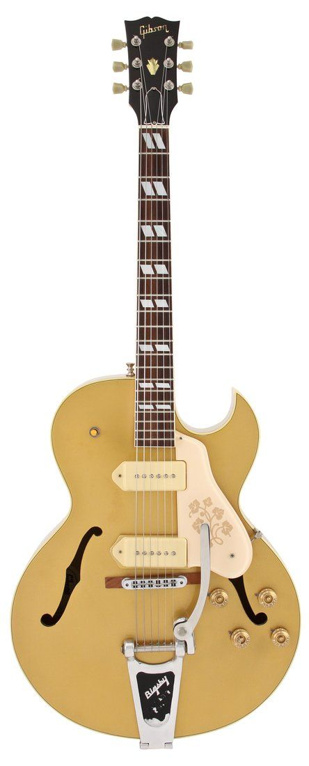 Gibson Electric Guitar   1990 ES 295 All Gold Finish   Rainbow Guitars