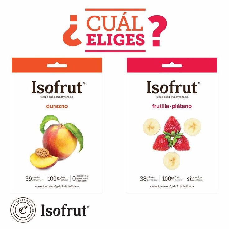 ¡Sábado para disfrutar!   Cuéntanos cuál de estos dos snacks #Isofrut es tu favorito: ¿Durazno conservero o frutilla plátano?